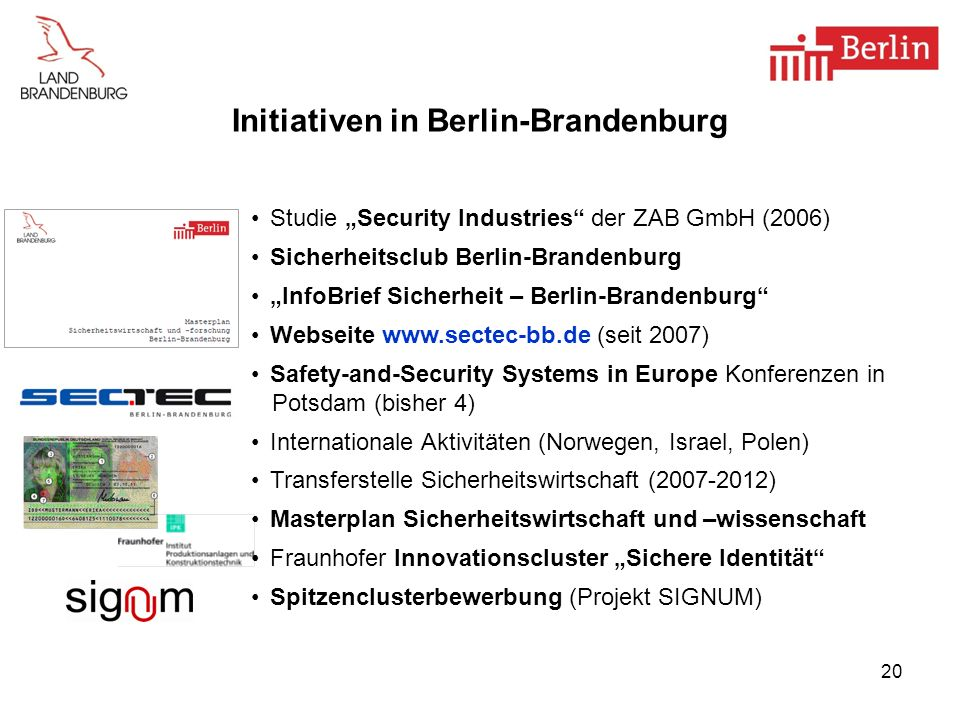 Initiativen in Berlin-Brandenburg