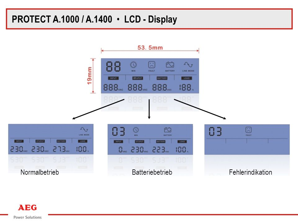 PROTECT A.1000 / A.1400 • LCD - Display