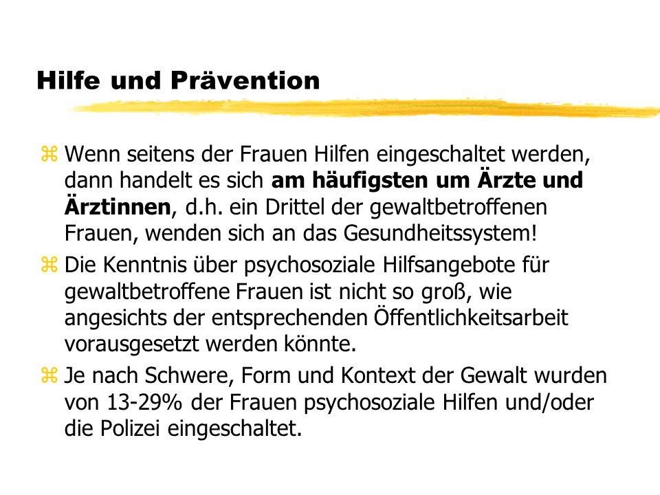 Hilfe und Prävention