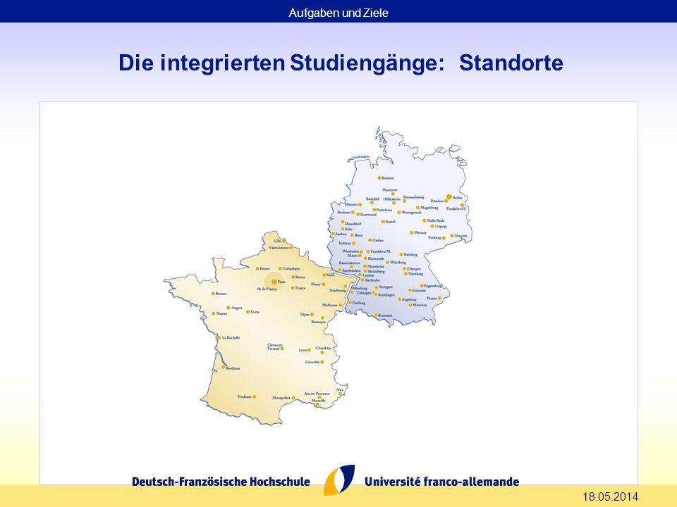 Die integrierten Studiengänge: Standorte