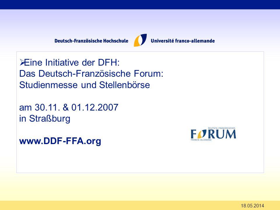 Eine Initiative der DFH: Das Deutsch-Französische Forum: