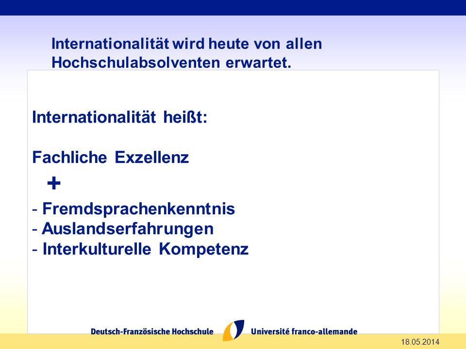 + Internationalität heißt: Fachliche Exzellenz - Fremdsprachenkenntnis