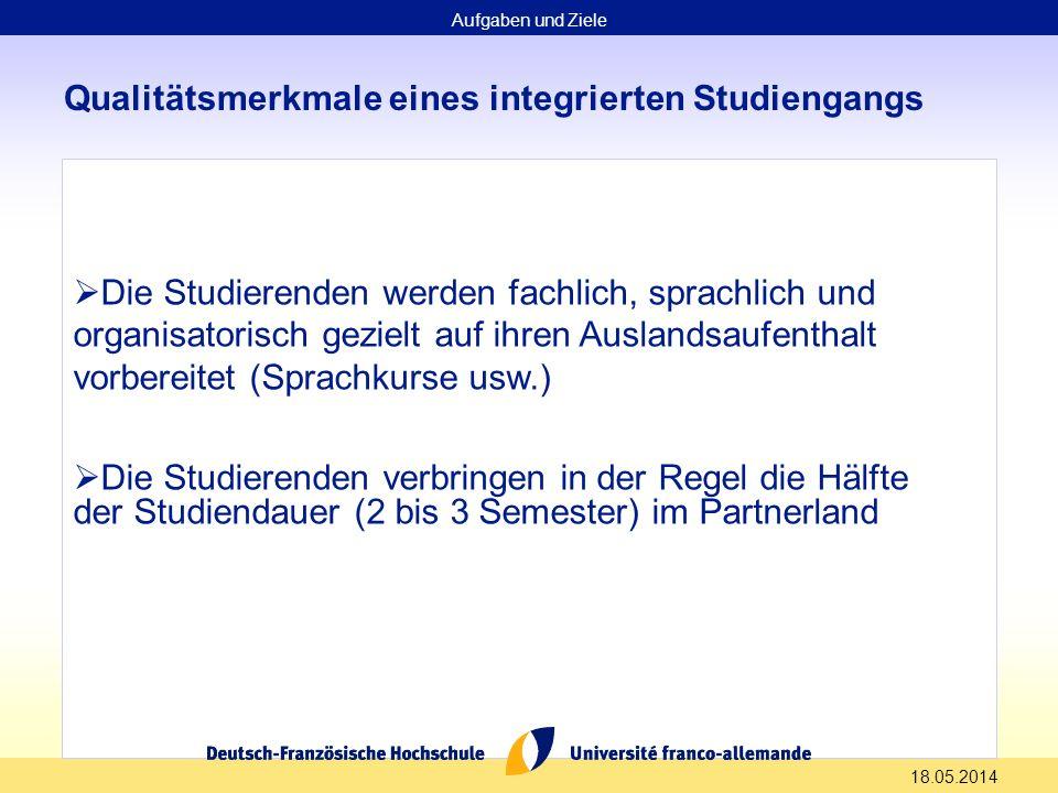 Qualitätsmerkmale eines integrierten Studiengangs
