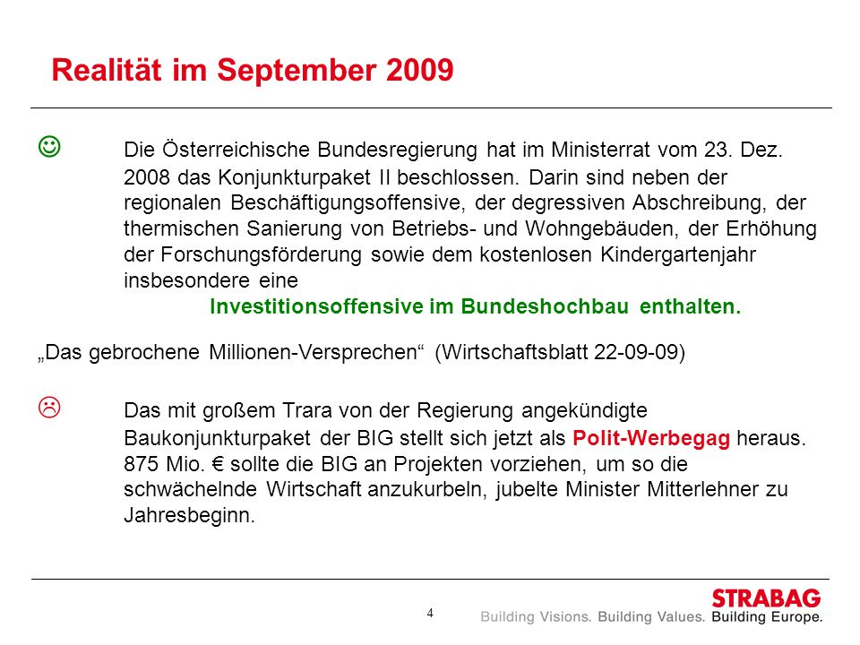 Realität im September 2009