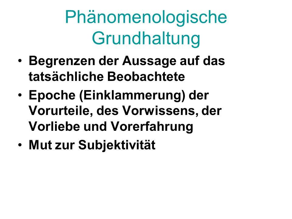 Phänomenologische Grundhaltung