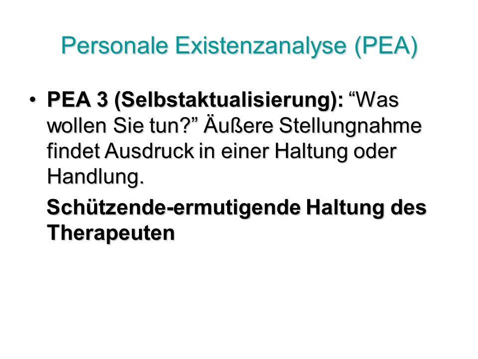 Personale Existenzanalyse (PEA)