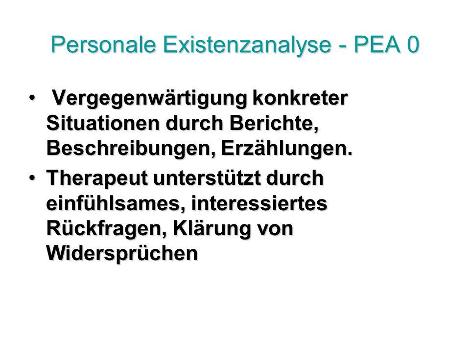 Personale Existenzanalyse - PEA 0