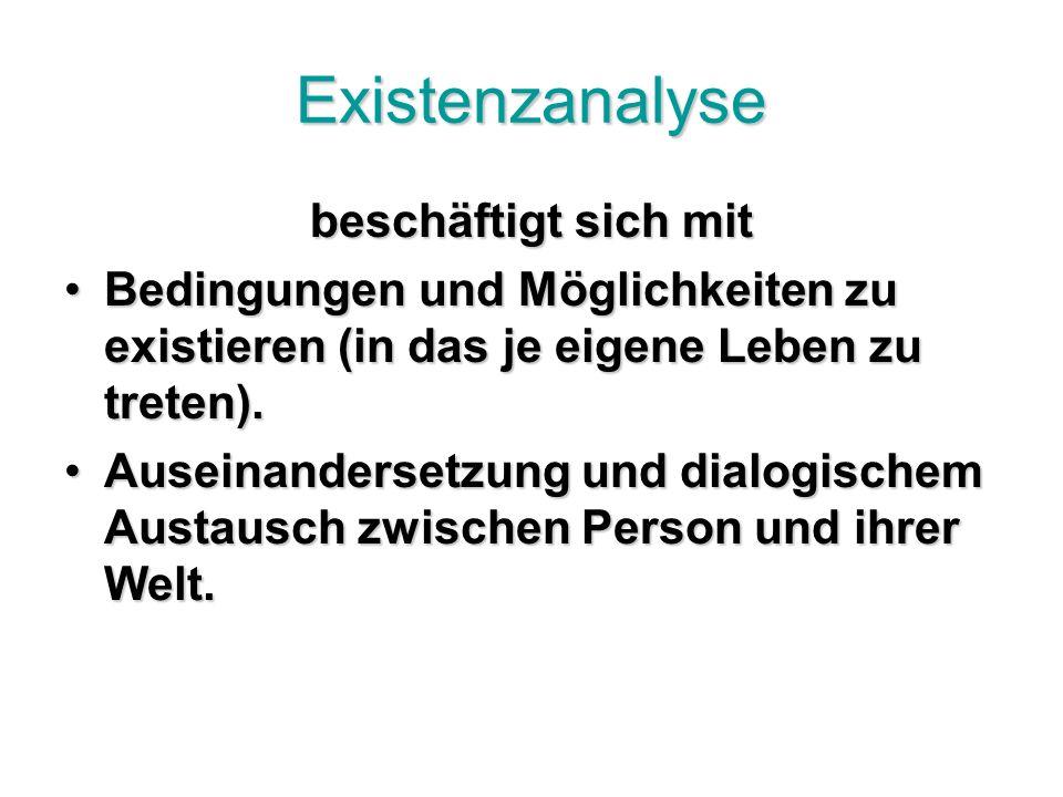 Existenzanalyse beschäftigt sich mit