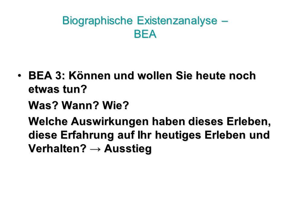 Biographische Existenzanalyse – BEA