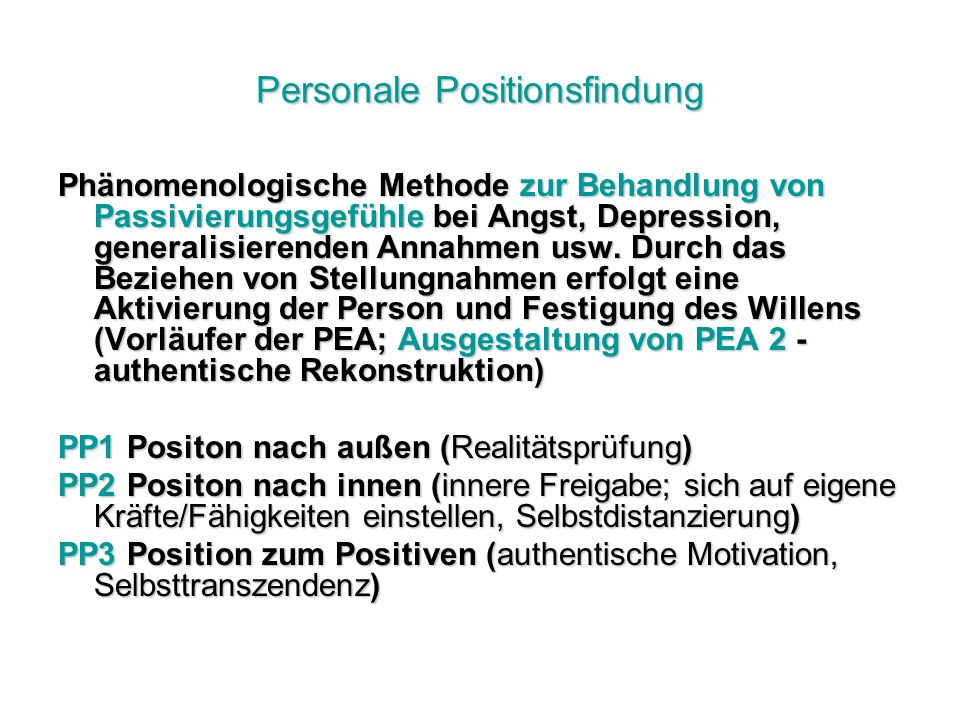 Personale Positionsfindung