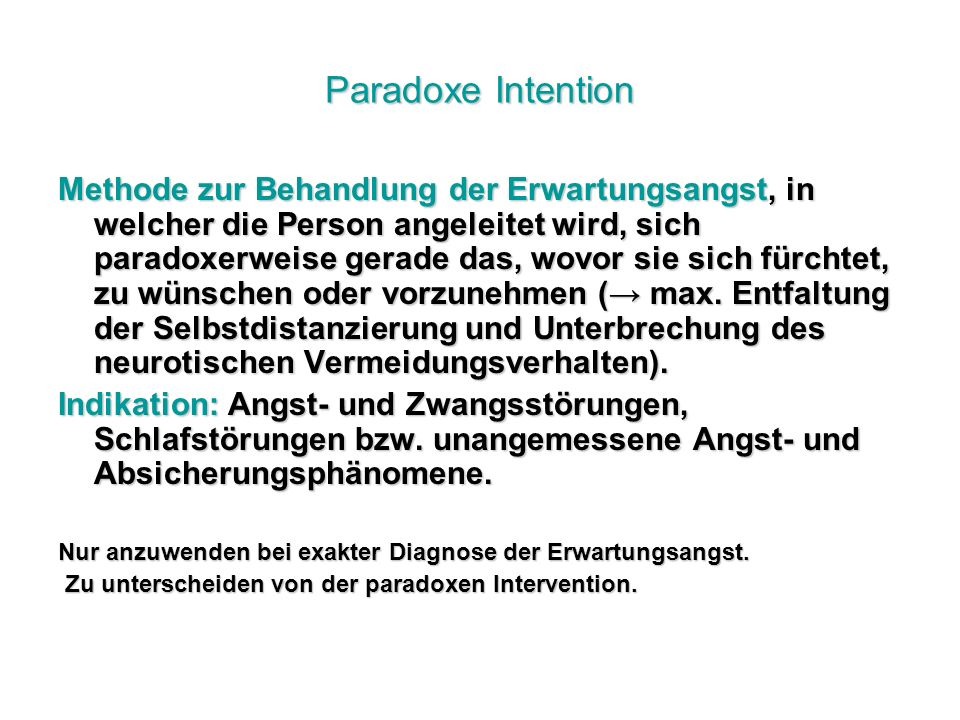 Paradoxe Intention