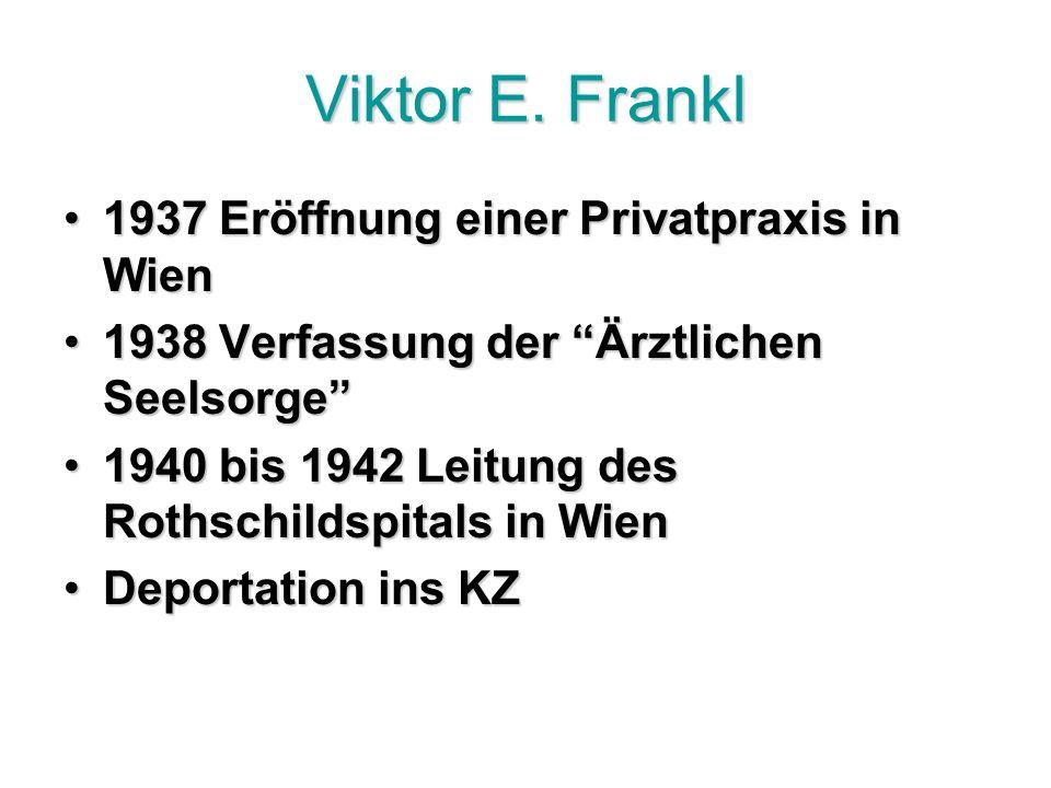 Viktor E. Frankl 1937 Eröffnung einer Privatpraxis in Wien