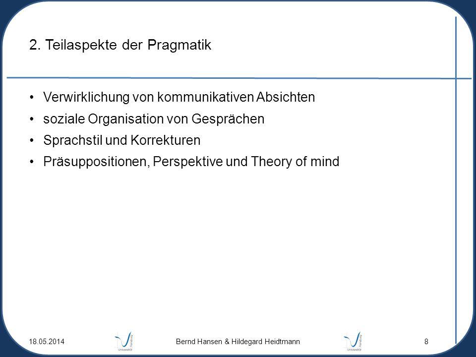 2. Teilaspekte der Pragmatik