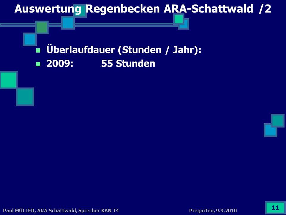 Auswertung Regenbecken ARA-Schattwald /2