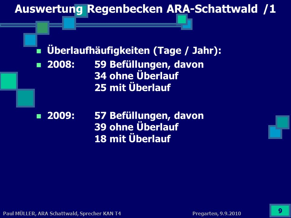 Auswertung Regenbecken ARA-Schattwald /1