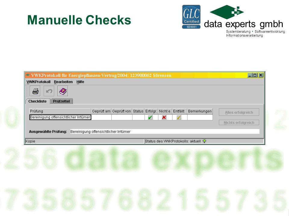 Manuelle Checks