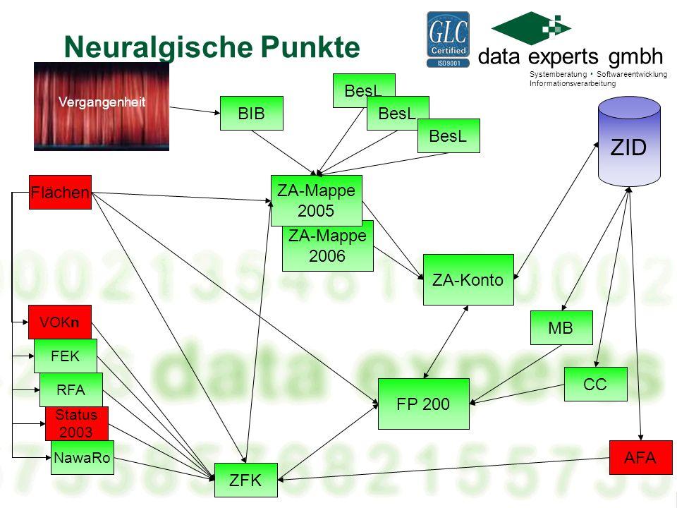 Neuralgische Punkte ZID BesL BIB BesL BesL Flächen ZA-Mappe 2005