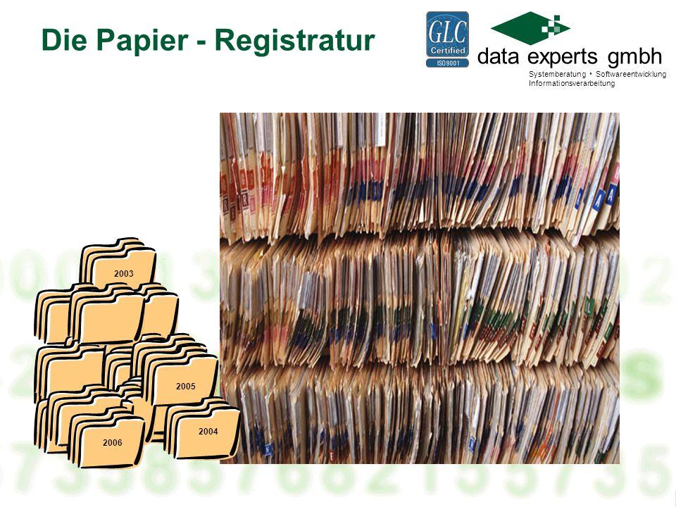 Die Papier - Registratur