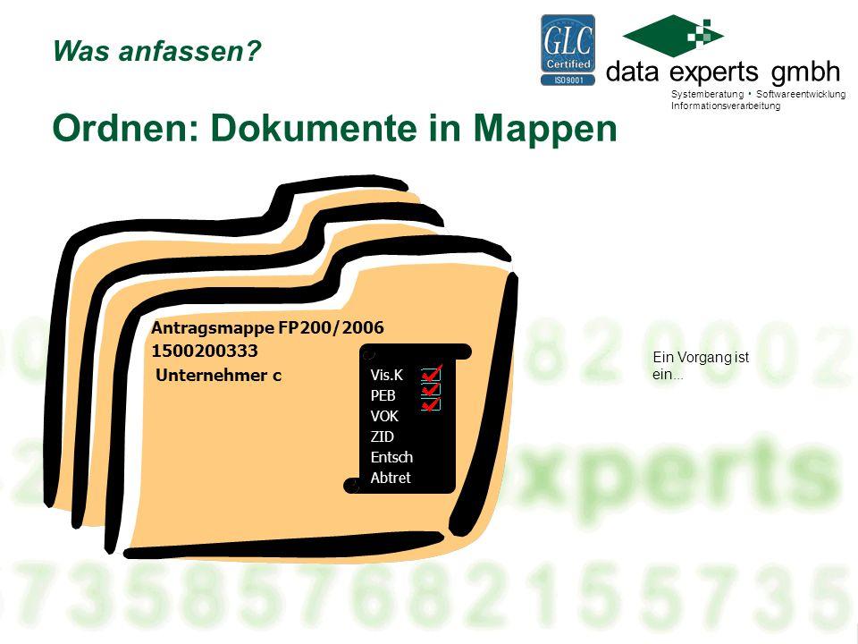 Ordnen: Dokumente in Mappen