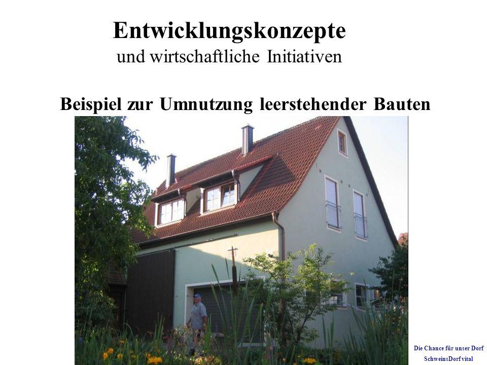 Beispiel zur Umnutzung leerstehender Bauten Die Chance für unser Dorf