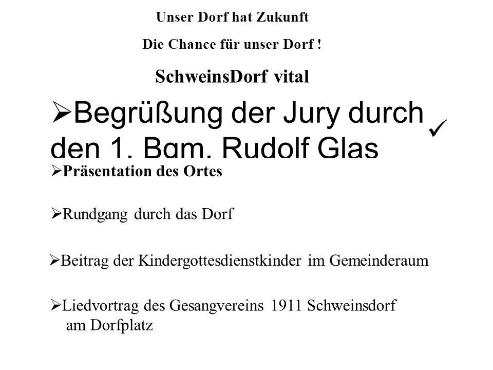 Begrüßung der Jury durch den 1. Bgm. Rudolf Glas