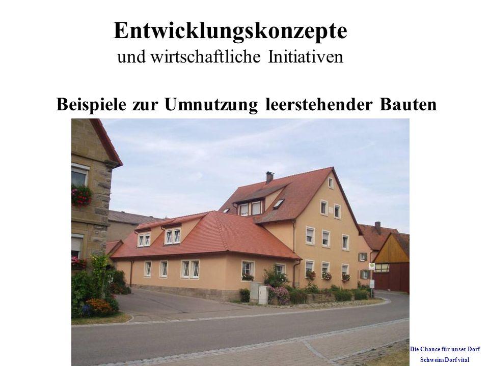 Beispiele zur Umnutzung leerstehender Bauten Die Chance für unser Dorf