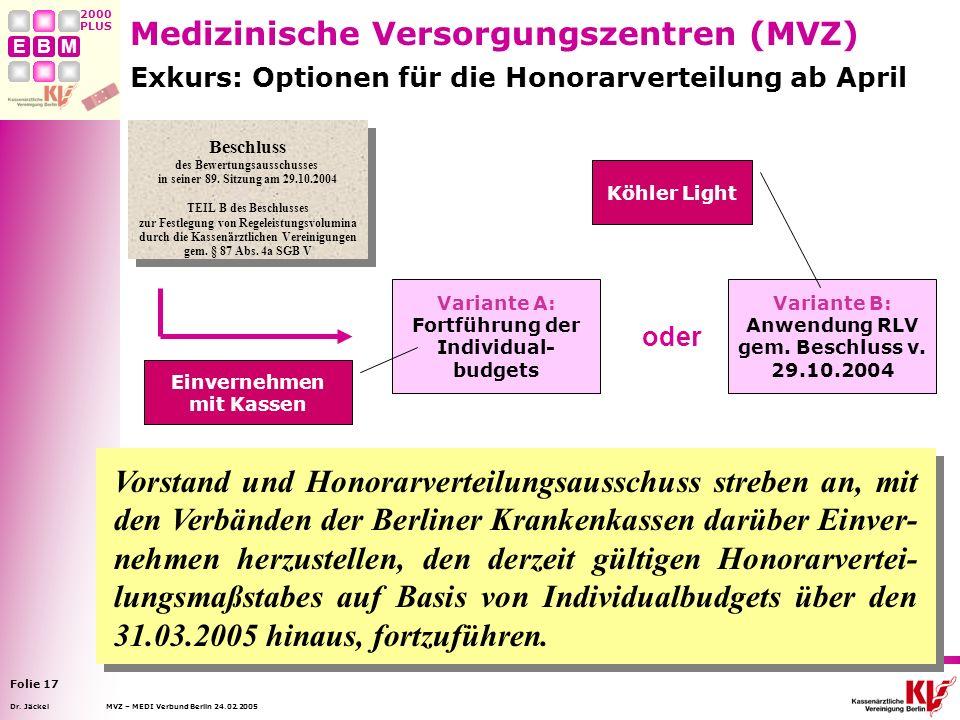 Medizinische Versorgungszentren (MVZ)