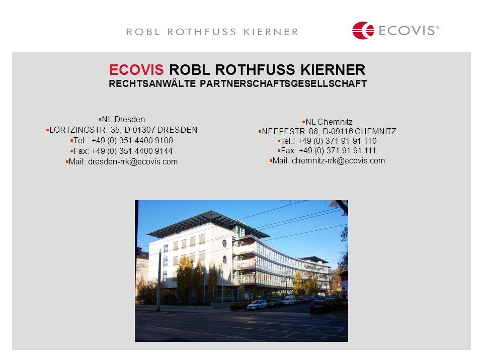 ECOVIS ROBL ROTHFUSS KIERNER RECHTSANWÄLTE PARTNERSCHAFTSGESELLSCHAFT