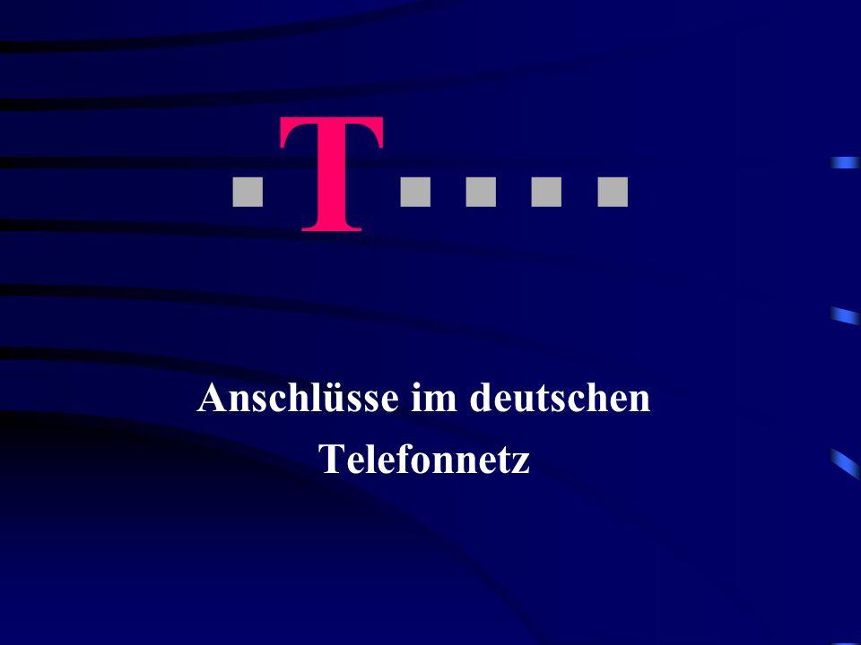 Anschlüsse im deutschen Telefonnetz