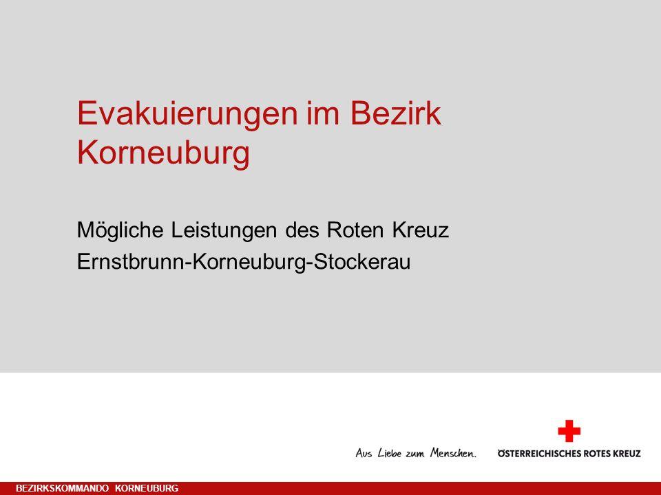 Evakuierungen im Bezirk Korneuburg