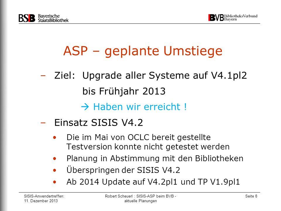 ASP – geplante Umstiege