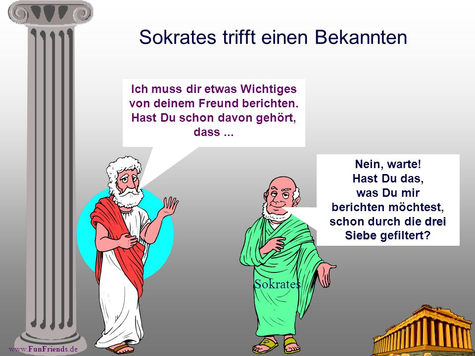 Sokrates trifft einen Bekannten