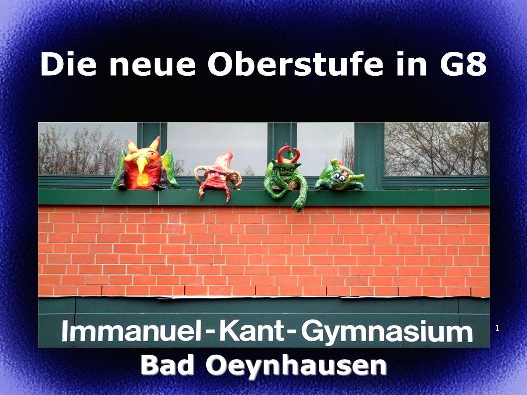 Die neue Oberstufe in G8 Bad Oeynhausen