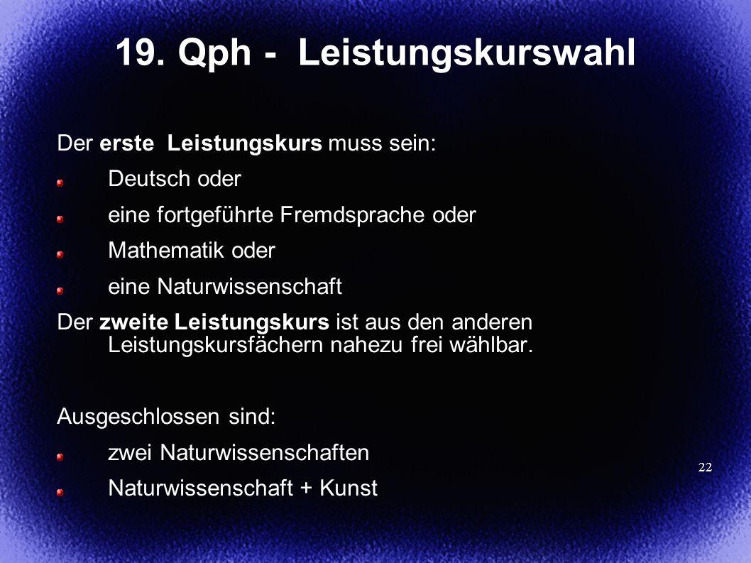 19. Qph - Leistungskurswahl