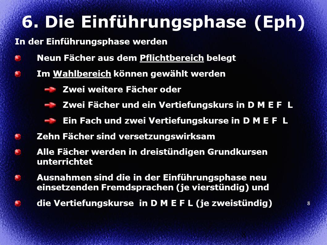 6. Die Einführungsphase (Eph)