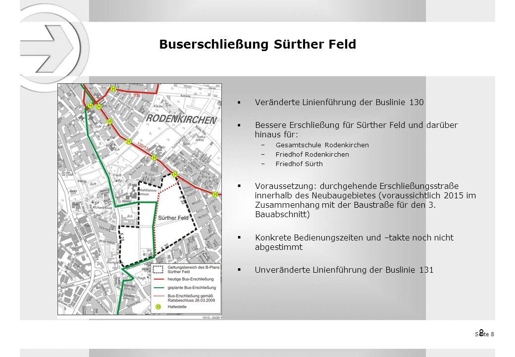 Buserschließung Sürther Feld