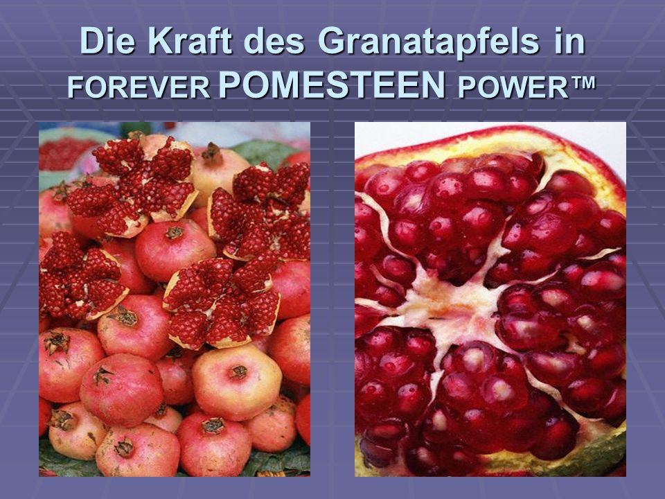 Die Kraft des Granatapfels in FOREVER POMESTEEN POWER™