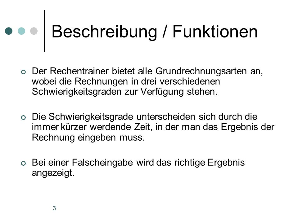 Beschreibung / Funktionen