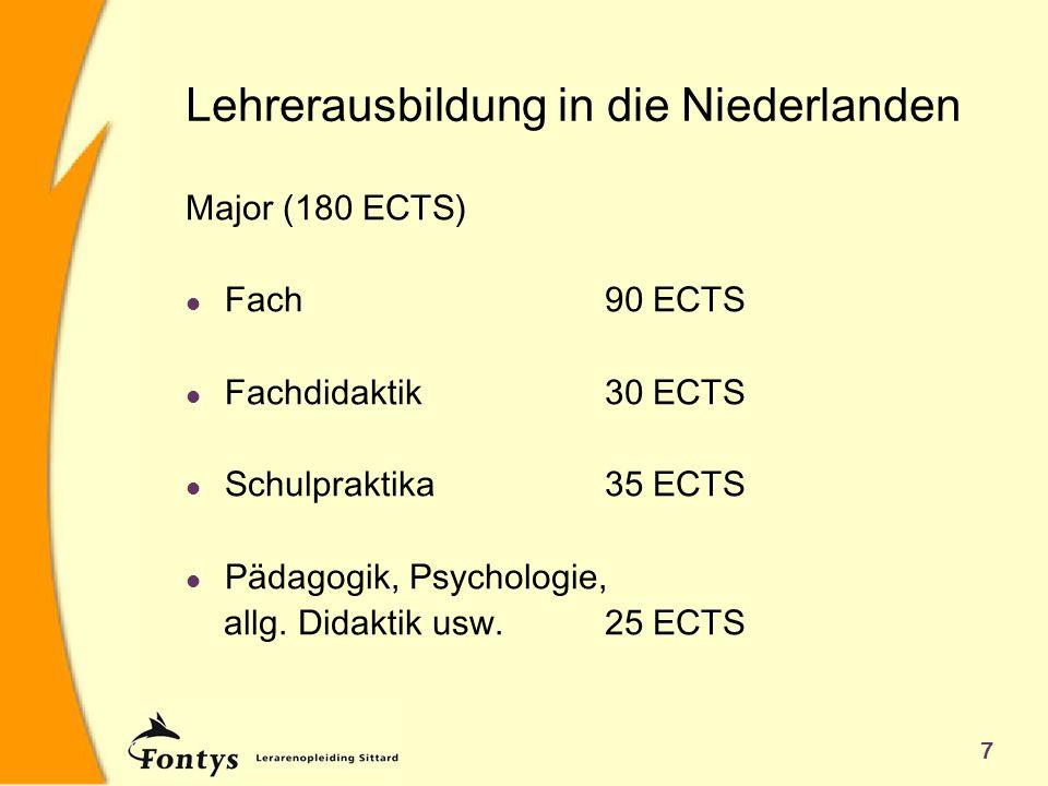 Lehrerausbildung in die Niederlanden
