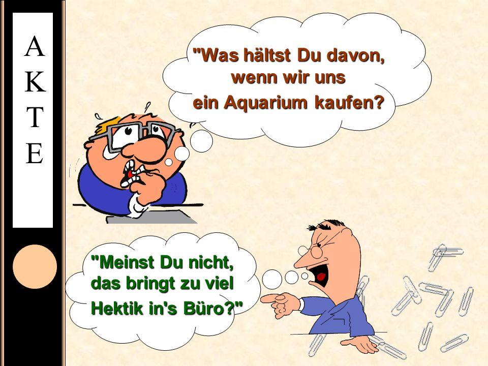 Was hältst Du davon, wenn wir uns ein Aquarium kaufen