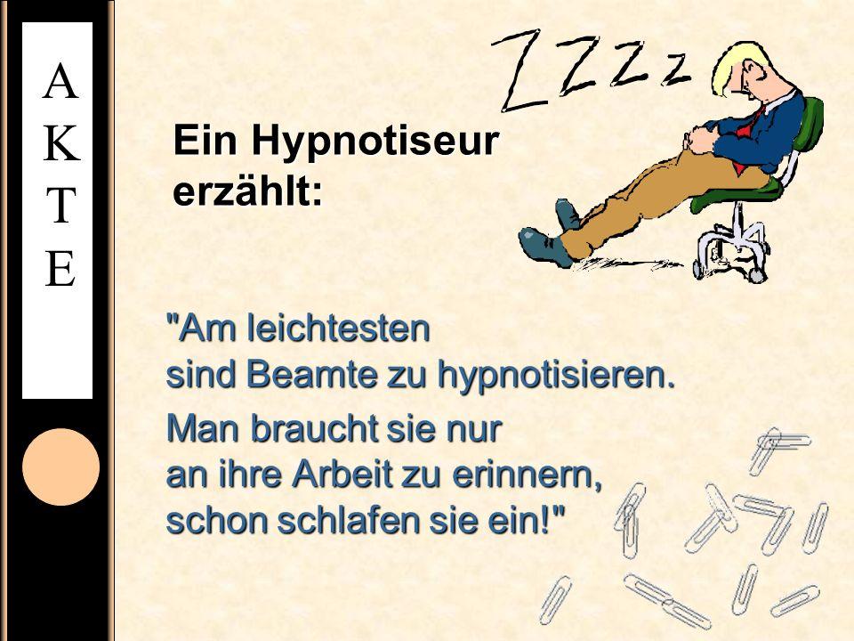 Ein Hypnotiseur erzählt: