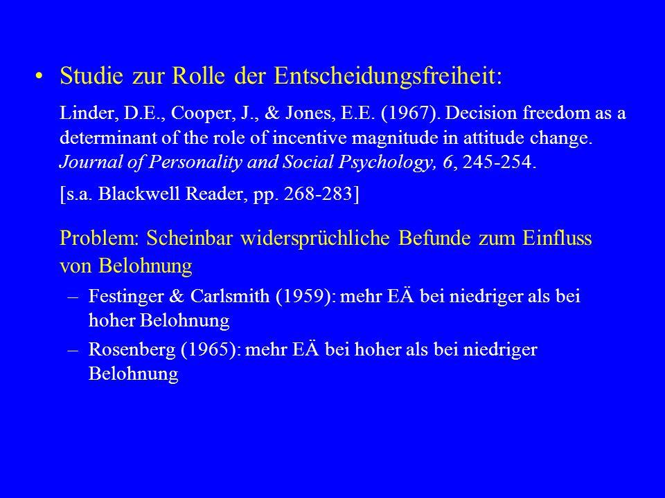 Studie zur Rolle der Entscheidungsfreiheit: