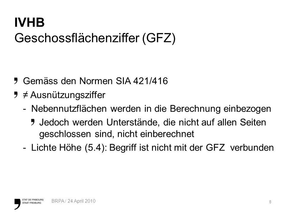 IVHB Geschossflächenziffer (GFZ)