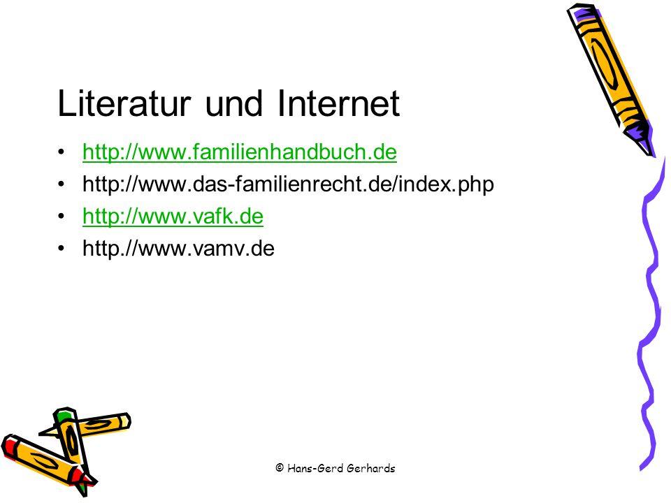 Literatur und Internet