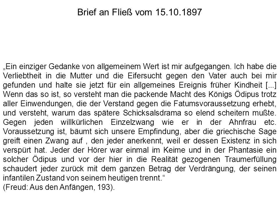 Brief an Fließ vom 15.10.1897