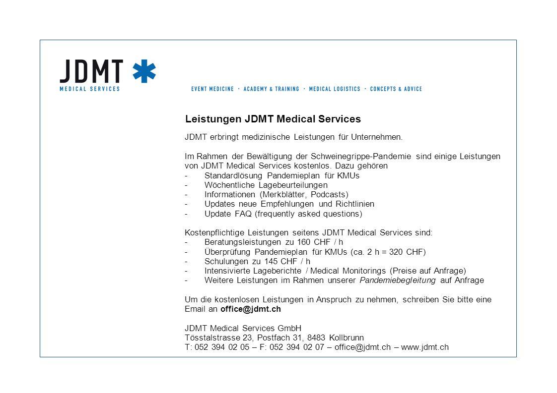 Leistungen JDMT Medical Services