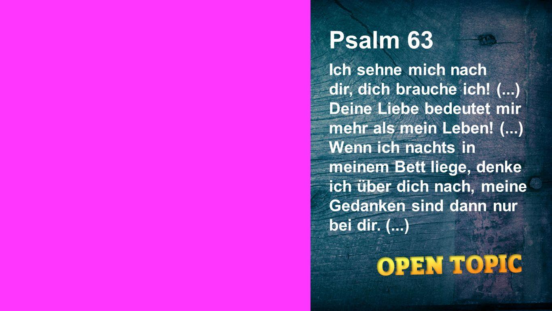 Psalm 63 Seiteneinblender