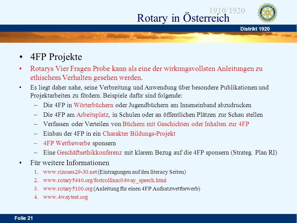 4FP Projekte Rotarys Vier Fragen Probe kann als eine der wirkungsvollsten Anleitungen zu ethischem Verhalten gesehen werden.