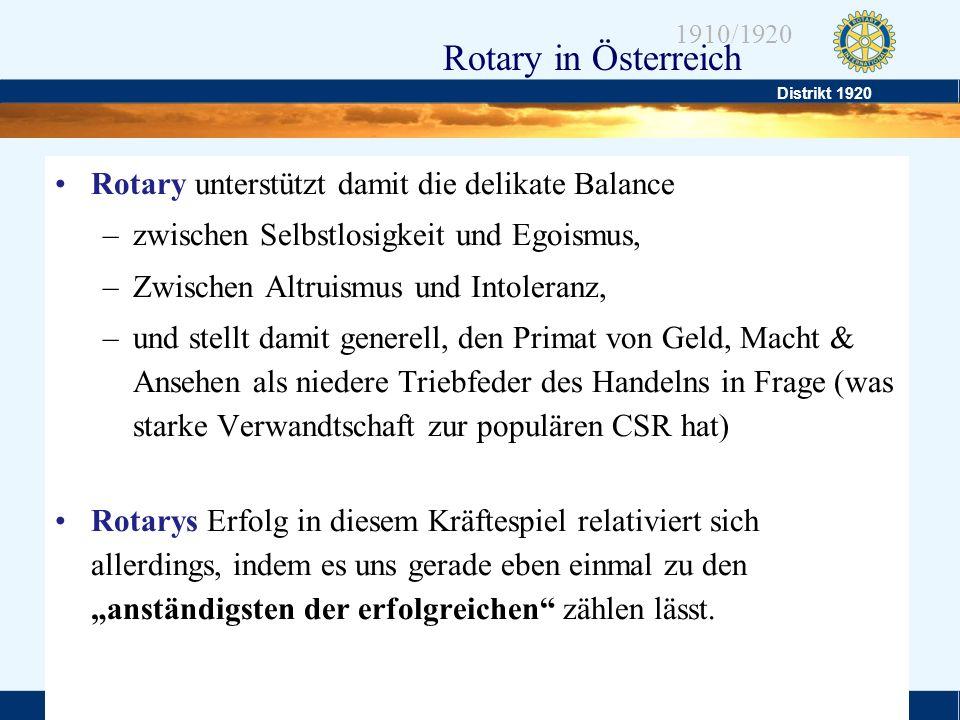 Rotary unterstützt damit die delikate Balance
