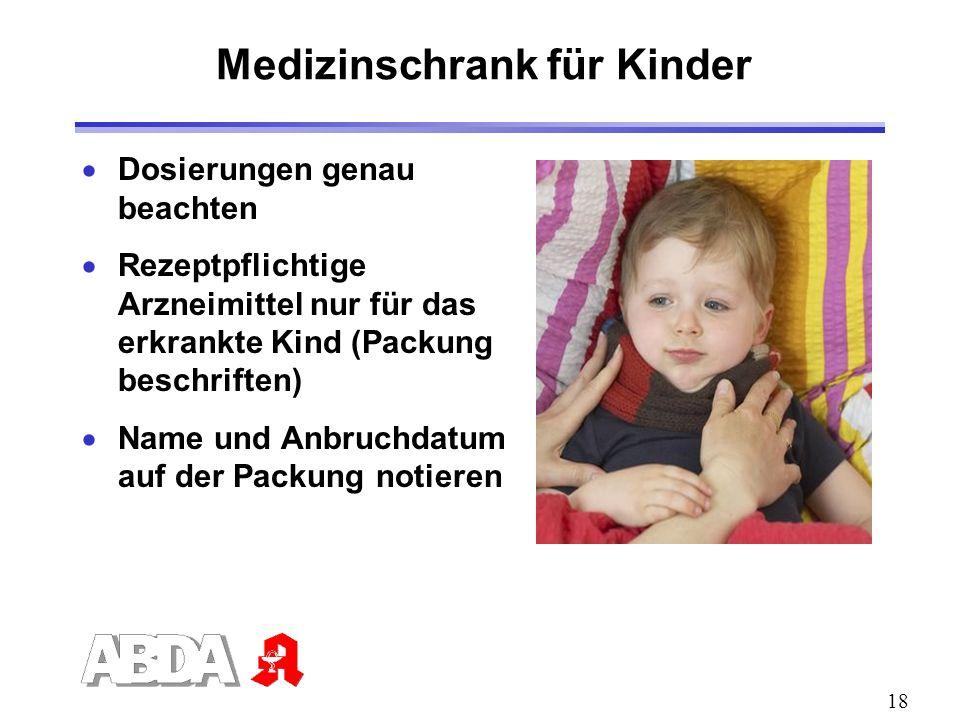 Medizinschrank für Kinder
